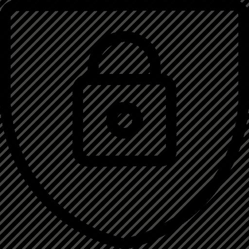 combination, combo, locked, padlock, secure, shield, square icon