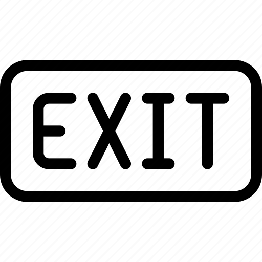 exit, frame, logout, rectangle, sign, signage icon