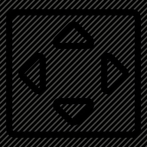 direction, move, square icon