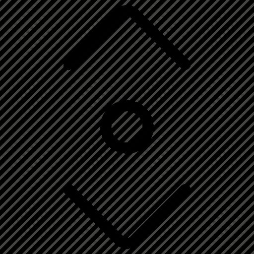 move, scroll, vertical icon