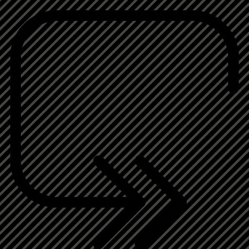 controls, forward, loop, media, multi, multimedia icon