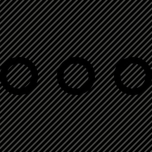 circle, dots, horizontal, menu, navigation, three icon