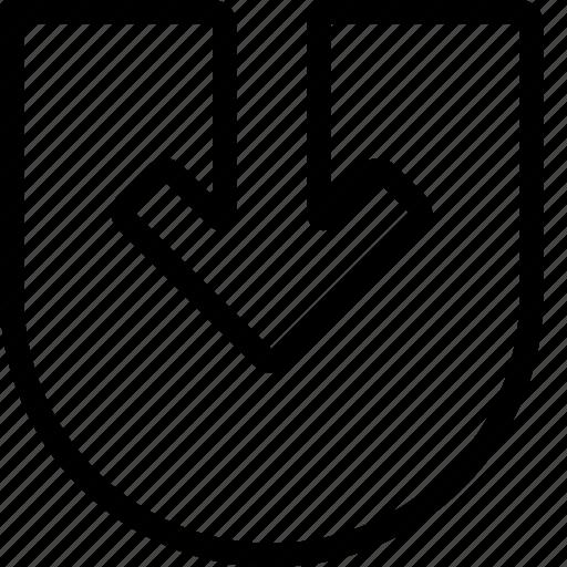 arrow, down, navigate, navigation icon