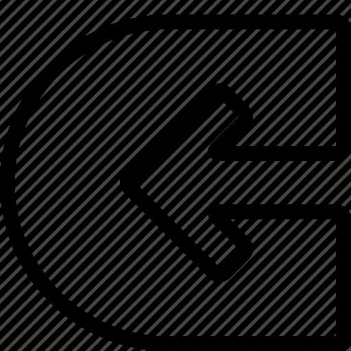 arrow, back, left, navigate, navigation icon