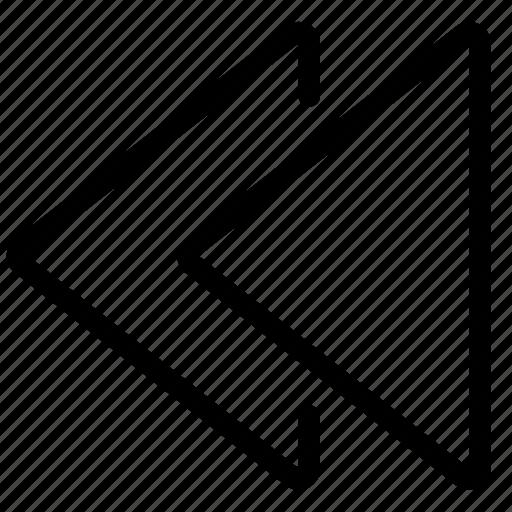 Arrow, arrows, left, navigate, navigation, rewind icon - Download on Iconfinder