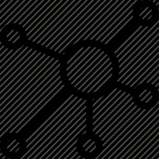 link, links, network, node, nodes, organization, structure icon