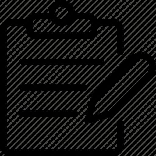 clipboard, edit, edition, form, paper, write icon
