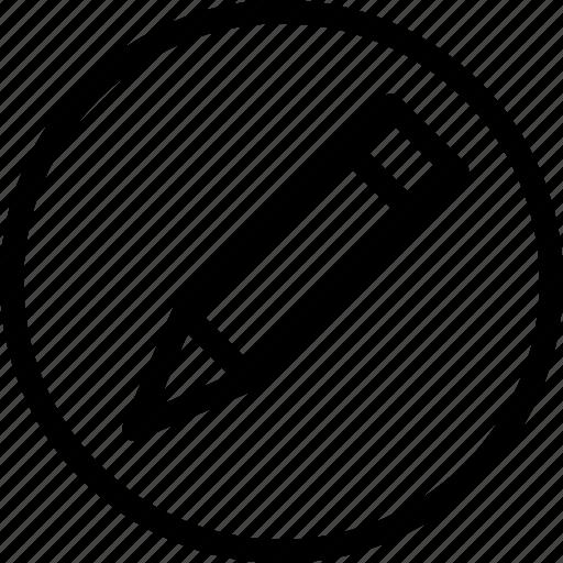 change, circle, edit, modify, pencil, write, writing icon