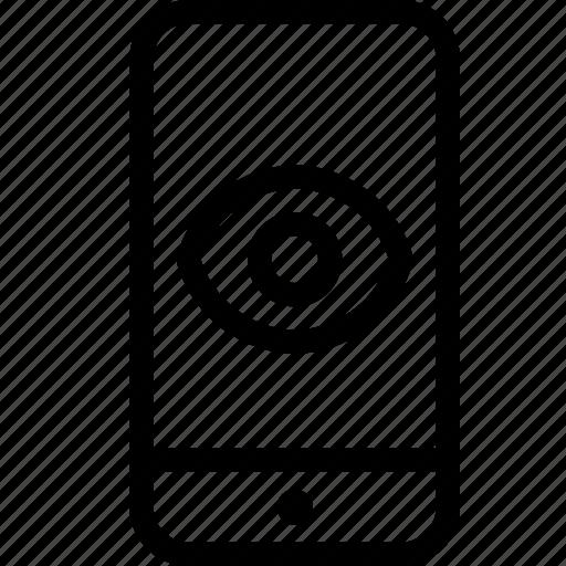 identification, iphone, iris, phone, retina, secure, smartphone icon