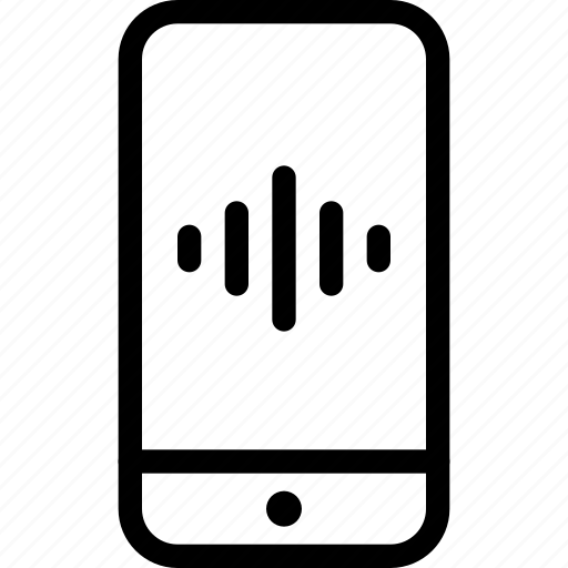 id, identifcation, iphone, phone, secure, smartphone, soundwave icon