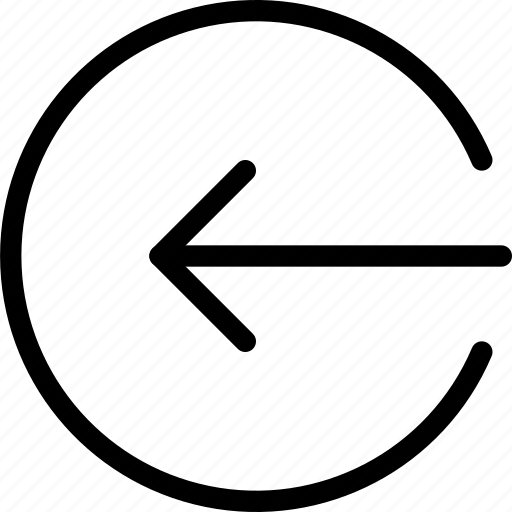arrow, circle, enter, frame, left, login, point icon