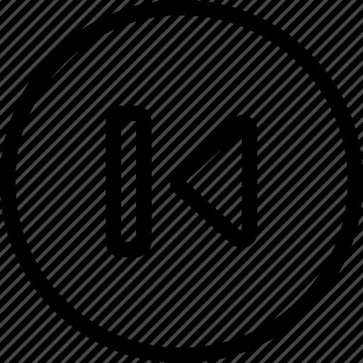 circle, controls, media, multi, multimedia, previous icon