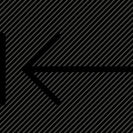 arrow, keyboard, left, previous icon