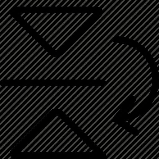 down, flip, reflect icon