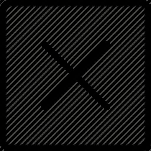 fail, failure, reject, rejection, remove, square, validation icon