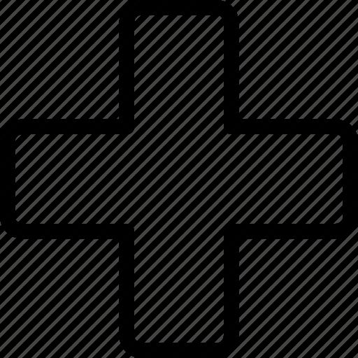 add, bold, buttons, cross, plus, remove icon
