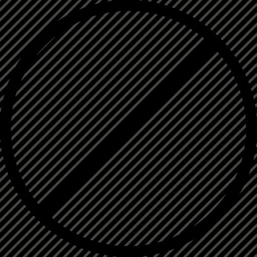 circle, disable, do, enter, garbage, not, remove icon