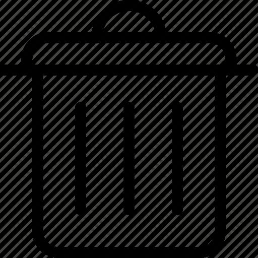 bin, delete, empty, garbage, remove, trash icon