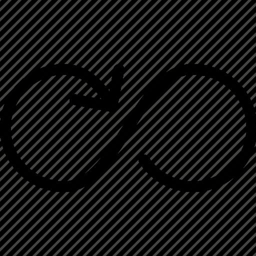 arrow, loop, media, multi, multimedia, repeat icon