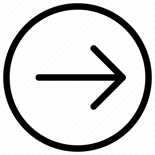 arrow, circle, forward, navigate, navigation, right icon