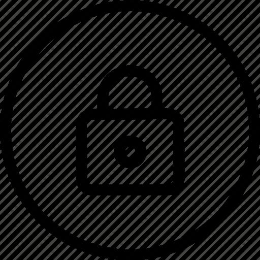 circle, combination, combo, frame, key, lock, secure icon