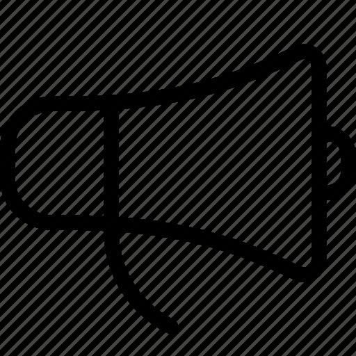 bullhorn, loud, megaphone, share, speaker, transmit icon