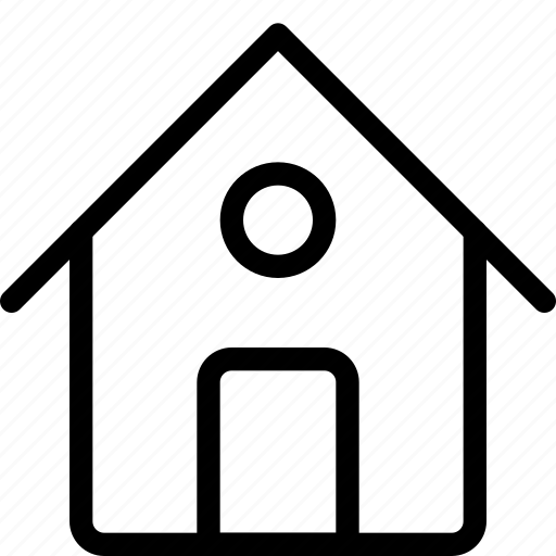entrance, home, house, map, roof, square, window icon