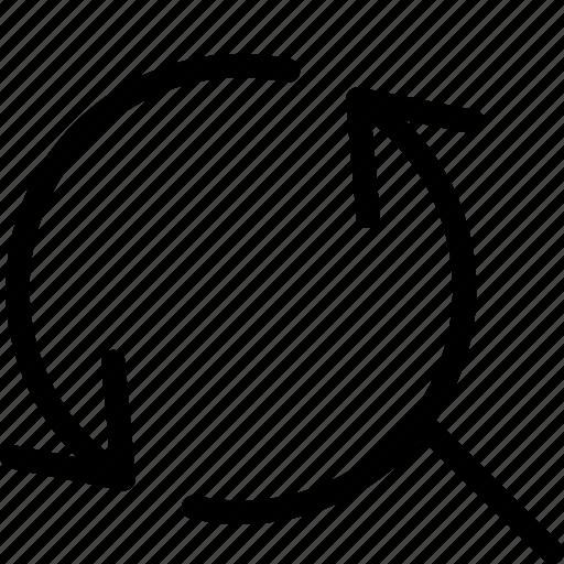 arrow, arrows, search, sync, synchronize icon