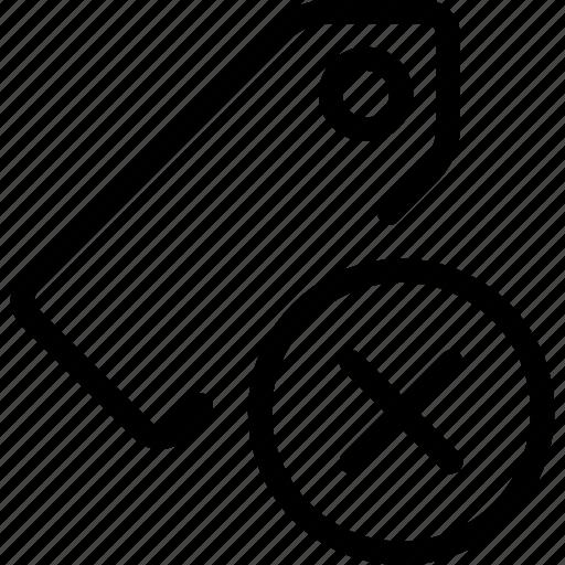 remove, tags icon