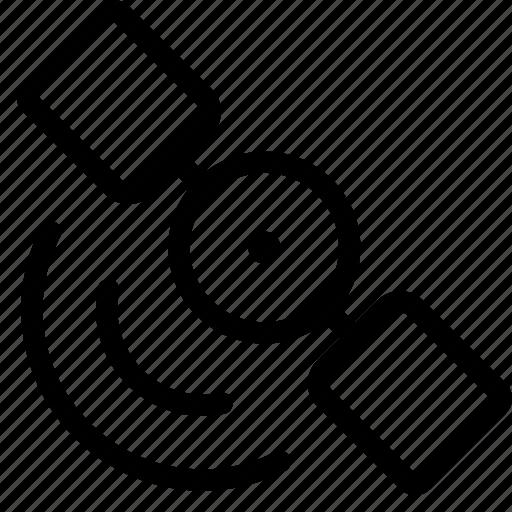 broadcast, satellite, share, signal, transmit icon