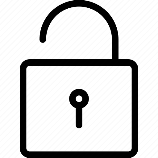 key, lock, secure, security, square, unlock, unlocked icon