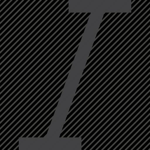 interface, italic, ui icon