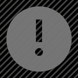 alert, error, exclamation icon