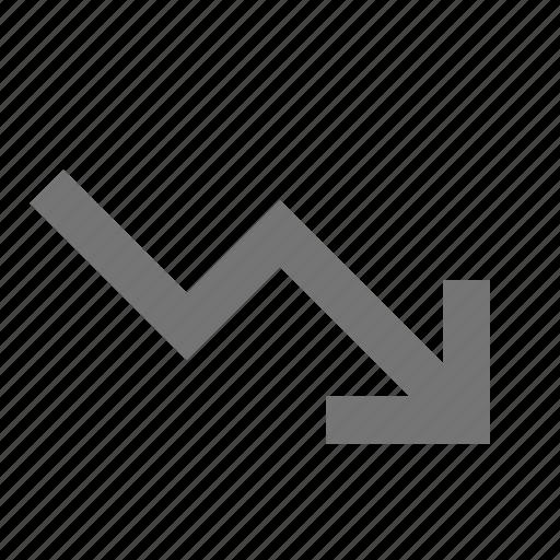 arrow, decrease, decreasing icon
