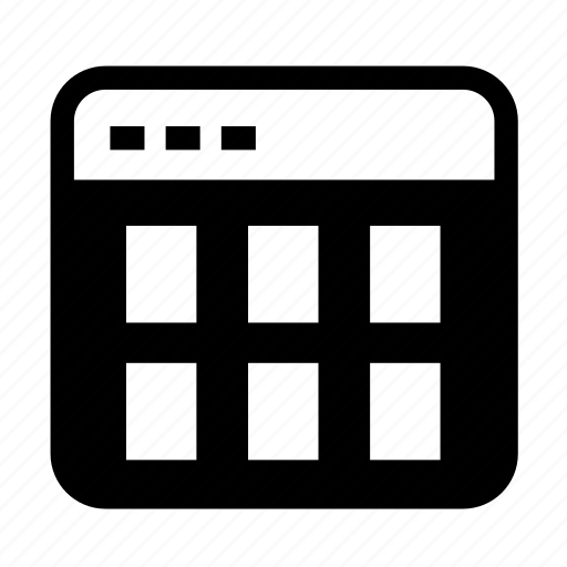 grid, grid02, interface, interface grid, layout, table content icon