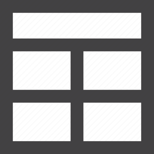 grid, header, layout icon