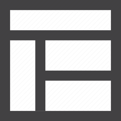 Grid, header, layout, sidebar icon - Download on Iconfinder