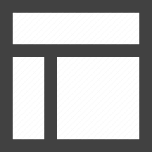 grid, header, layout, previous, sidebar icon