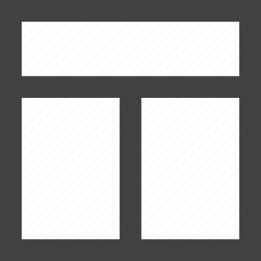 columns, grid, header, layout, two icon