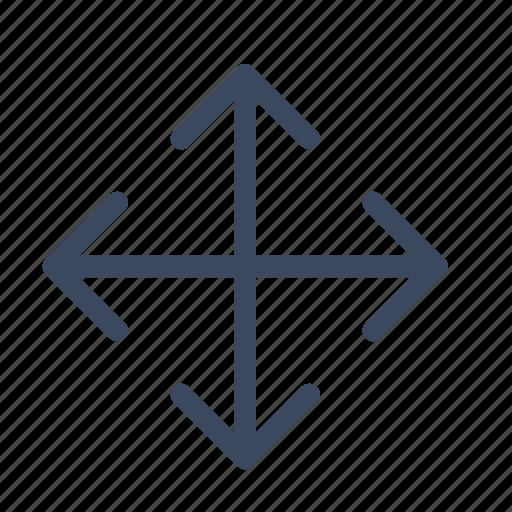 arrows, direction, move, navigation, orientation icon