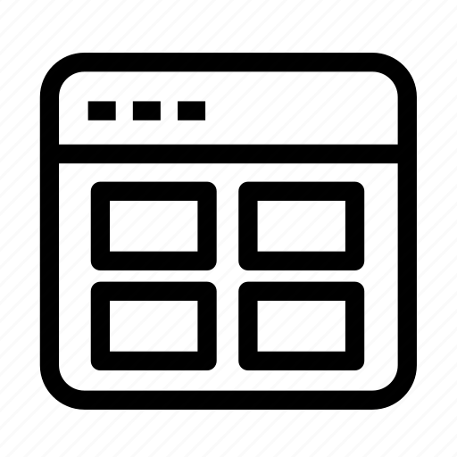 grid, interface, interface grid, layout, table content icon
