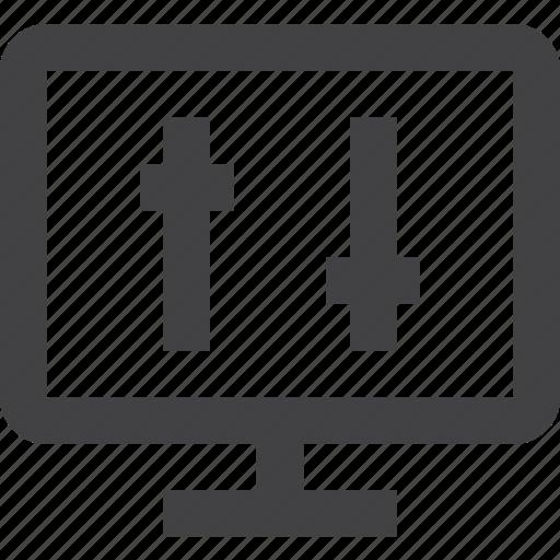 brightness, contrast, display, screen, setting, settings icon