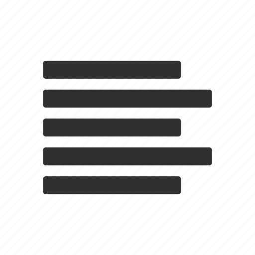 alignment left, letter, letter format, text icon