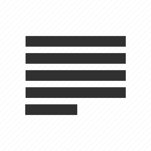align tool, alignment left, letter format, text icon