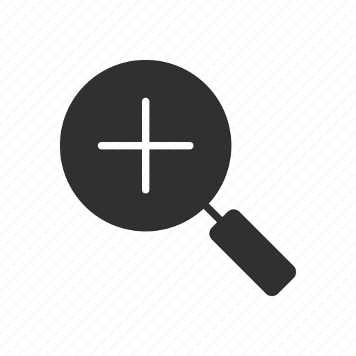 magnifying glass, search, zoom, zoom in icon