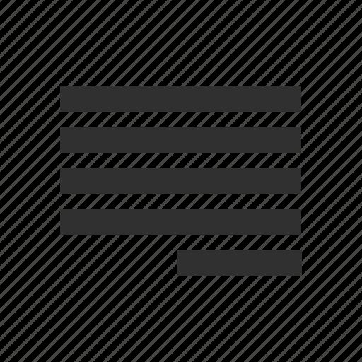 align right, align tool, letter, letter format icon