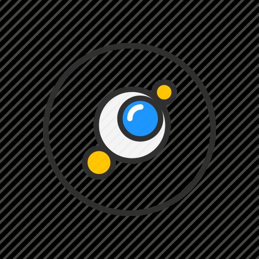 circles, flare, light, photoshop icon