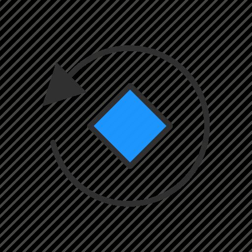 diamond, illustrator, rotate, rotate tool icon