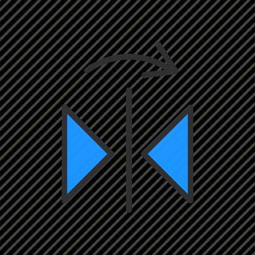 flip, illustrator, navigation, reflect tool icon