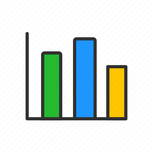 bar graph, business, chart, photoshop icon